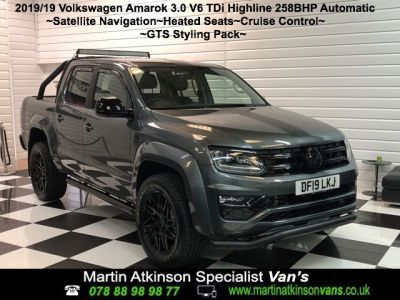 Volkswagen Amarok GTS PACK D/Cab Pick Up Highline 3.0 V6 TDI 258 BMT 4M Auto Pick Up Diesel Indium GreyVolkswagen Amarok GTS PACK D/Cab Pick Up Highline 3.0 V6 TDI 258 BMT 4M Auto Pick Up Diesel Indium Grey at Martin Atkinson Cars Scunthorpe