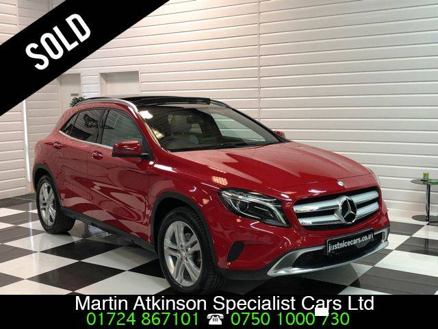 Mercedes-Benz GLA Class 2.1 GLA200d Sport 5dr Premium Plus Automatic Estate Diesel Jupiter Red