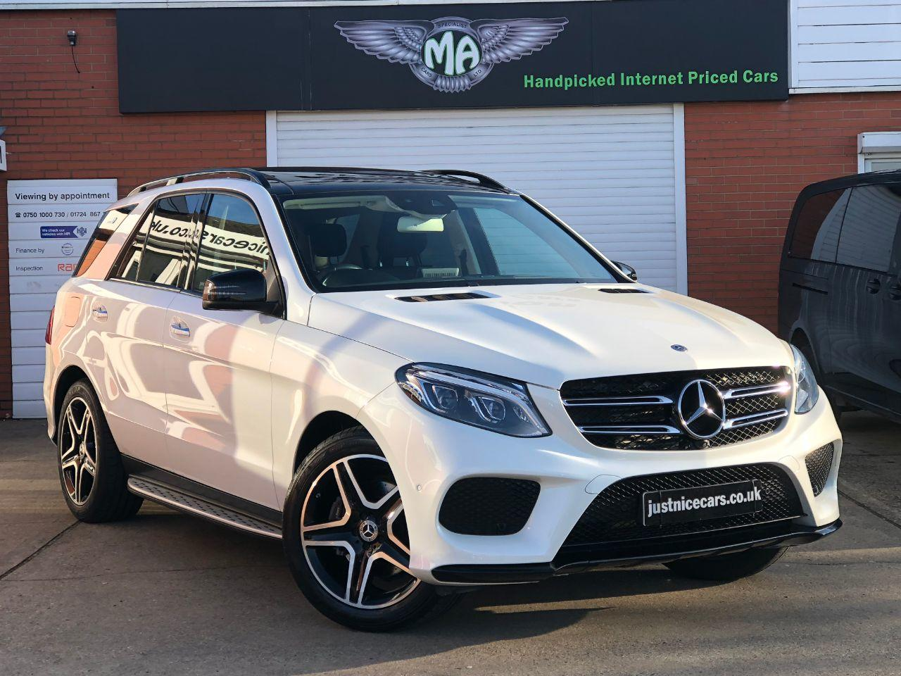 Mercedes-Benz GLE GLE350d 3.0 V6 AMG Line Premium Plus 4Matic 9G-Tronic Automatic Estate Diesel Designo Diamond White Metallic