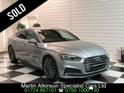 Audi A5 3.0 V6 TDi S-Line Quattro Sportback S-Tronic Automatic 286BHP Hatchback Diesel Floret Silver MetallicAudi A5 3.0 V6 TDi S-Line Quattro Sportback S-Tronic Automatic 286BHP Hatchback Diesel Floret Silver Metallic at Martin Atkinson Cars Scunthorpe