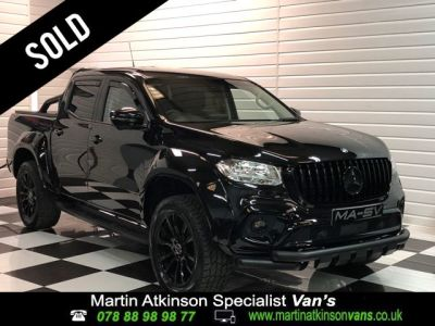 Mercedes-benz X Class 2.3 250d 4Matic Double Cab Pickup Auto MA-SV WIDEBODY Pick Up Diesel Kabana BlackMercedes-benz X Class 2.3 250d 4Matic Double Cab Pickup Auto MA-SV WIDEBODY Pick Up Diesel Kabana Black at Martin Atkinson Cars Scunthorpe